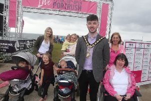 Mayor Sean Bateson at the Live at The 148th Open held in Portrush