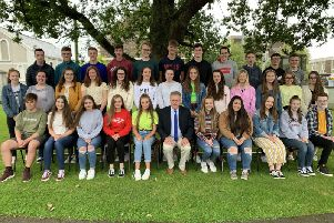 A selection of the 41 pupils from Dalriada who gained 8 or more full grades A*-A.