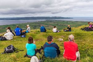 Taking a break with a breathtaking view on Binevenagh