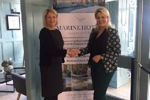 Claire Hunter (Marine Hotel) and Adele Stevenson (Cancer Research UK)