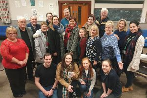Portrush Music Society members in rehearsal for their Christmas concert with Musical Director Annie Sharkey (left)