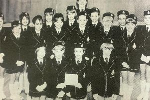 Members of Scarva Street Presbyterian GB who were awarded joint second in the Bann District Choral Speaking and Choir competition, junior section in 1992.