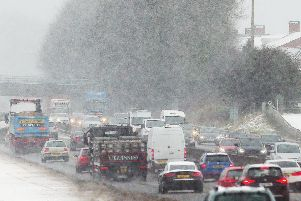 Snow drifts are proving a problem for those clearing roads. ''Picture by Jonathan Porter/PressEye