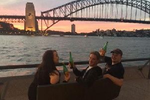 Enjoying a tipple in Sydney, Australia