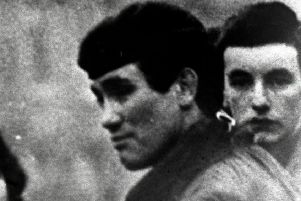 Captain Robert Nairac on patrol in Belfast before he was abducted by the IRA in South Armagh.