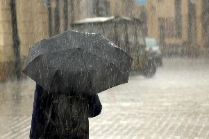 Heavy rain is forecast for Northern Ireland this weekend.
