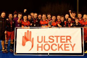 Banbridge celebrate their Kirk Cup success over Annadale on Wednesday