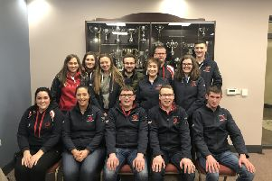 Rathfriland YFC held their Annual General Meeting. Pictured are the Outgoing club Committee.