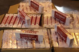 Some of the suspected illicit tobacco products recovered in the operation.