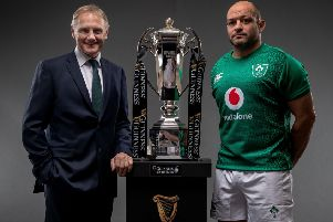 Ireland Head Coach Joe Schmidt and captain Rory Best