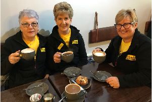(From L-R) Beth Reid, Iris Megaw and Janet Nelson from Friends of the Cancer Centre's Dromore Fundraising Group are getting ready for their annual brunch on Friday, April 5 at the First Presbyterian Non-Subscribing Church in Dromore.