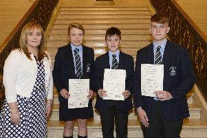 Local pupils celebrate at Ulster-Scots awards in Stormont