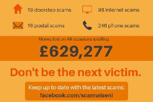 Callous predators and fraudsters scam over £620,000 in one month