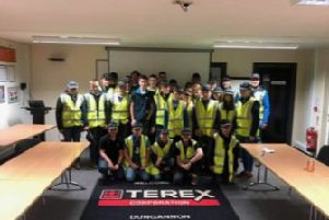 The whole club pictured at Terex