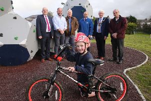 A brand new look for Dromara play park is unveiled by council