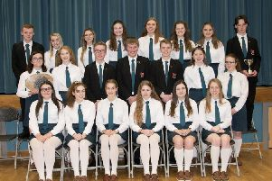 Pictured at Banbridge Academy Prize Day are Year 13 prize winners