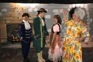 The cast of Cinderella as performed by the Eydon Players.