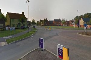 The incident took place around the corner from Poppyfields Way in Brackley, the county police force have today confirmed.