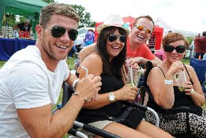 Revellers enjoying Napton Festival