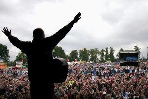 The view from the stage at Fairport's Cropredy Convention