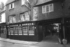 An early 1930s view of the Waggon and Horses