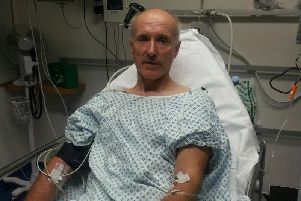 Tim Stowe, 61, suffered a punctured lung and a broken rib in the crash