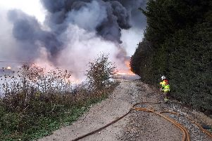 Firefighters on the scene. Photo: Wellesbourne SNT