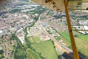 This aerial shot of Banbury Station was taken by Richard Stow.