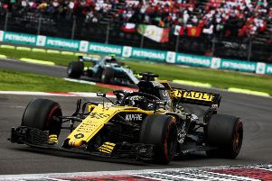 Nico H�lkenberg on his way to sixth place in Sunday's Mexican Grand Prix