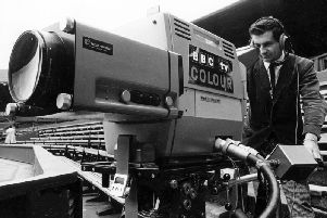 A Wimbledon tennis match in 1967 was the first to be transmitted in colour. Photo: TV Licensing