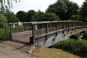 Ponds area at Spiceball Park have been created by the BBWOT