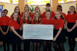 The Blessed George Napier School Choir, Banbury, raised over �2,500 for Breast Cancer Awareness. NNL-190115-143338009