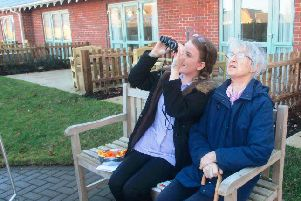 Highmarket House care home residents will become twitchers for the RSPB Big Garden Birdwatch this weekend. Photo: Care UK