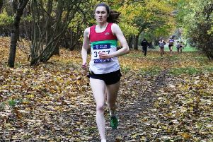 Banbury Harrier Emily Thompson has been called up to the England senior indoor team for this weekend's meeting in Slovakia. Photo: Barry Cornelius www.oxonraces.com