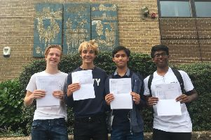 High-flying Blessed George Napier Catholic School students on GCSE results day 2018 - BGN was the highest-ranked Banbury school for Progress 8
