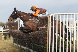 Lucarno Express and Sam Waley-Cohen jump the last on their way to winning the Open Maiden at Sunday's Savills Heythrop Hunt meeting. Photo: Neale Blackburn chasdog.com