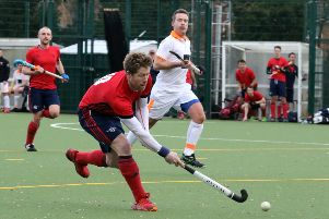 Banbury's Simon Boardman races through to score against London Wayfarers. Photo: Steve Prouse