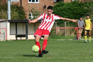 George Coombes grabbed the second goal for Easington Sports