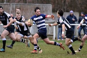 Joe Mills goes on a break for Banbury Bulls against Royal Wootton Bassett at the DCS Stadium. Photo: Steve Prouse