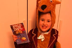 Bella Camilleri, 7, a pupil at St. Johns RC Banbury dressed as The Fantastic Mr  Fox