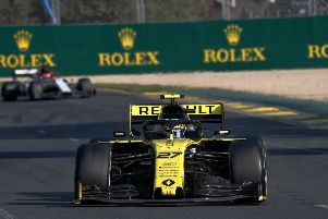 Nico Hulkenberg on his way to seventh place in Sunday's'Australian Grand Prix