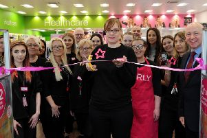Staff cut the ribbon at the new Superdrug store at Banbury Gateway Shopping Park. Photo: Jake McNulty