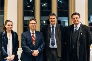 Members of Kingham School's Octagon Society with military historian Taff Gillingham (third from right)