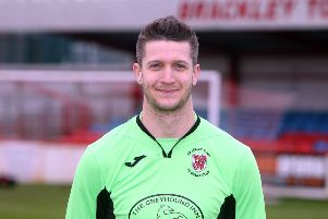 Brackley Town Saints keeper Ali Worby kept a clean sheet at Wantage Town