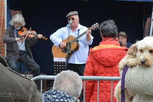 Live music was performed throughout the event
