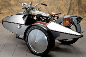 Jaguar Swallow Sidecar restoration that Banbury and Bicester College students will undertake NNL-190105-092824001