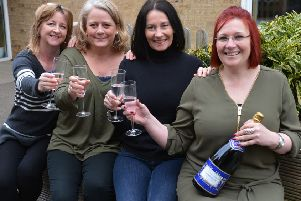 Middleton Cheney Charity Ball organisers, from the left, Nicola Bell, Liz Robinson, Michelle Wythe and Becca Casey. NNL-160322-180434009