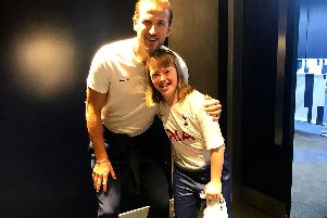 Harry Kane with Ella Markham. Photo: Harry Kane/Twitter