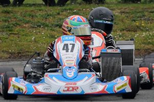 Alfie Briggs on his way to fifth place in the MiniX class final at Shenington. Photo: Graham Smith