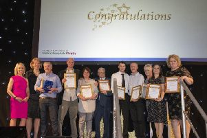 The award winners for 2018 with BBC South presenter Geraldine Peers